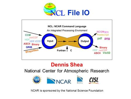 NCL NCL stands for NCAR Command Language  It is similar to IDL and