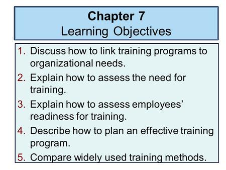 hrm ch 8 Human resource management - chapters 8-11 bus540 (2012e) page 1 chapter 8: orientation and employee training chapter synopsis this chapter explains various approaches to employee orientation and training.