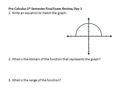 Final Exam Review Questions 3 Days - ppt video online download