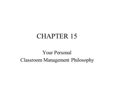 DISCIPLINE: A COMPONENT OF CLASSROOM MANAGEMENT - ppt video online