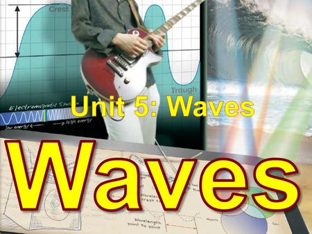 What is a wave? Wave – a disturbance or oscillation that travels from one place to another.
