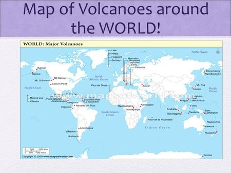 Unit 4 chapter 13 volcanism ppt video online download map of volcanoes around the world volcano discovery ea ea this site gumiabroncs Image collections