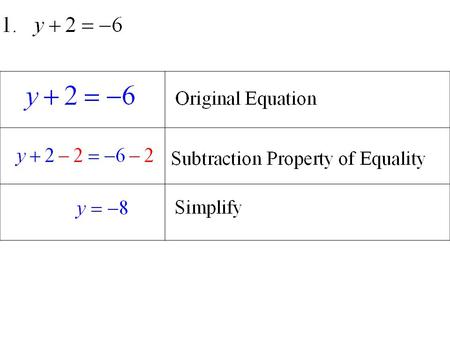 Practice 2.2 Solving Two Step Equations.
