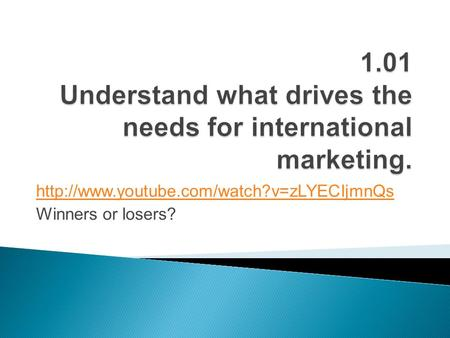 Chapter 14 global marketing communications decisions ii sales winners or losers fandeluxe Images