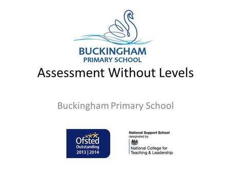 Assessment Without Levels Buckingham Primary School.