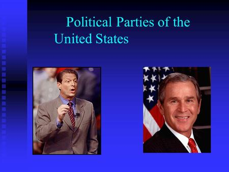 Political Parties of the United States. Left vs. Right The United States has what many consider a two-party system The United States has what many consider.