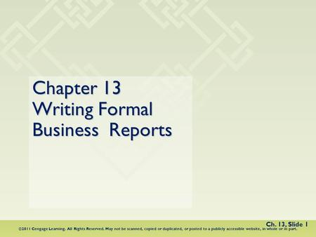 chapter 14 proposals and formal reports ppt download
