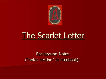 the scarlet letter sparknotes background notes notes section of notebook ppt 25238