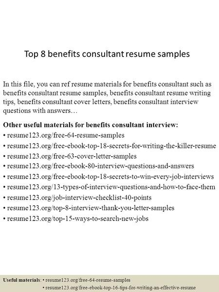 consulting resume template word