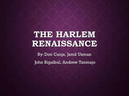 The Harlem Renaissance Ppt Video Online Download