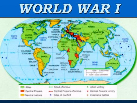 WORLD WAR I CAUSES OF THE WAR – For Europe IMPERIALISM NATIONALISM – individual ethnic groups wanting their own nations MILITARISM Tensions <strong>high</strong>; an.