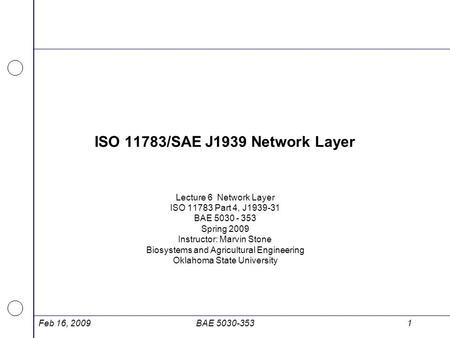 SAE J1939 / ISO Network Management - ppt download