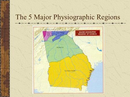 Map Of Georgia 5 Regions.Georgia S 5 Geographic Regions Ppt Video Online Download