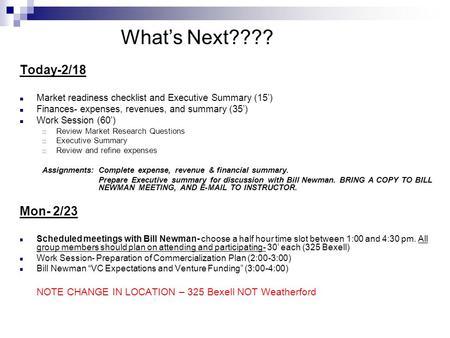 Today 2 18 Market Readiness Checklist And Executive Summary 15