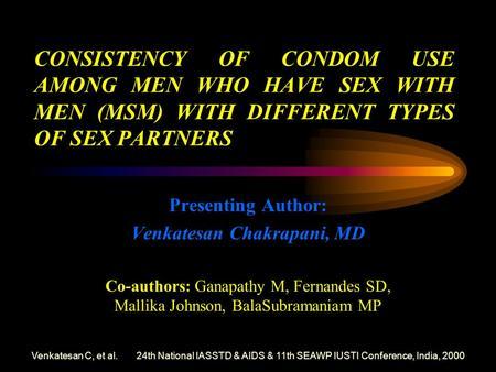 Condom Use Behaviors and Correlates of Condom Use in the