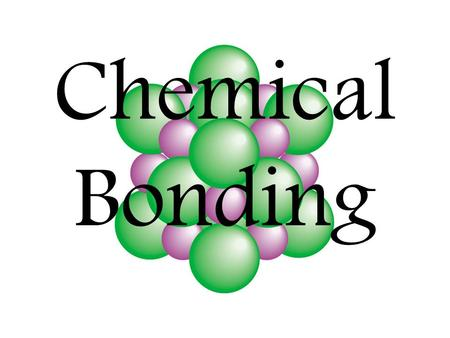 Chemical Bonding What is chemical bonding? Chemical bonding is the joining of atoms to form new substances. The force of attraction that holds two atoms.