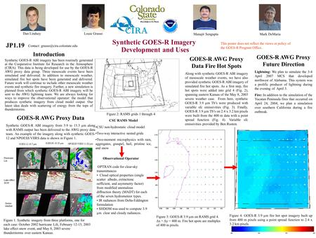 GOES-R Risk Reduction Annual Meeting 2011 Christian Kummerow