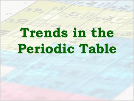 trends in the periodic table organization mendeleev atomic mass but some problems moseley