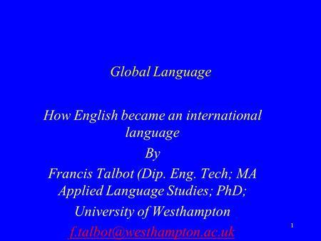 how english became international language