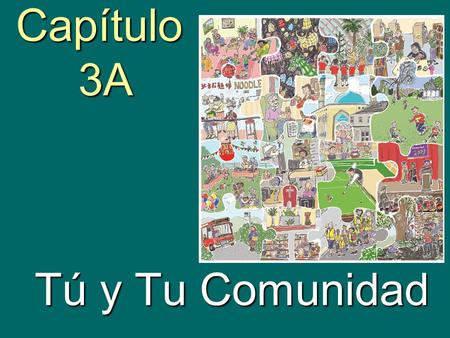 Capítulo 3A Tú y Tu Comunidad. talk about places in a community.