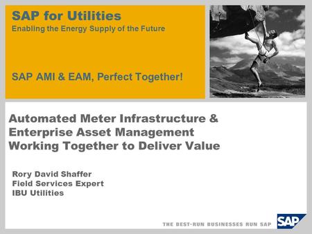 Automated Meter Infrastructure & Enterprise Asset Management