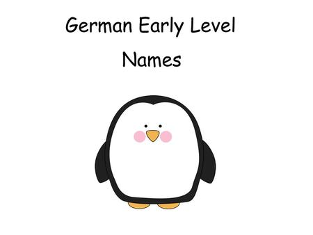 German Early Level Names.