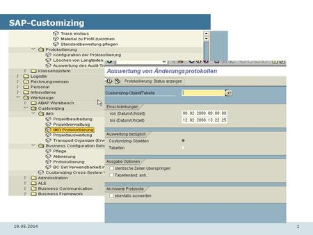 19.05.20141 SAP-Customizing. 19.05.20142 SAP-Customizing.