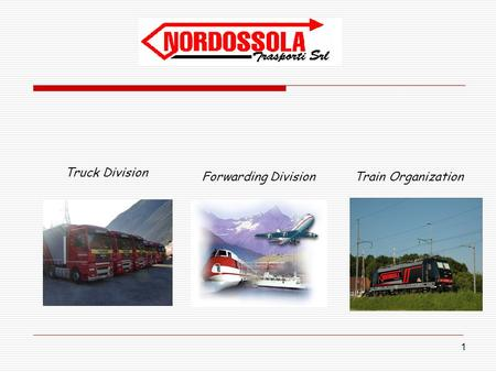 1 Truck Division Forwarding Division Train Organization.