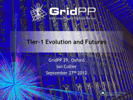Tier-1 Evolution and Futures GridPP 29, Oxford Ian Collier September 27 th 2012.
