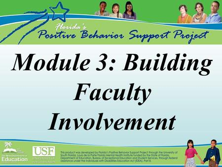 Module 3: Building Faculty Involvement