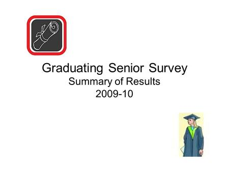 Graduating Senior Survey Summary of Results 2009-10.
