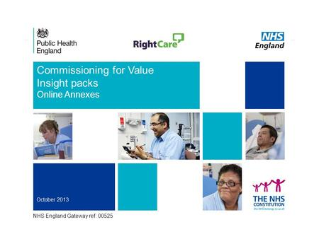 1 Commissioning for Value Insight packs Online Annexes NHS England Gateway ref: 00525.
