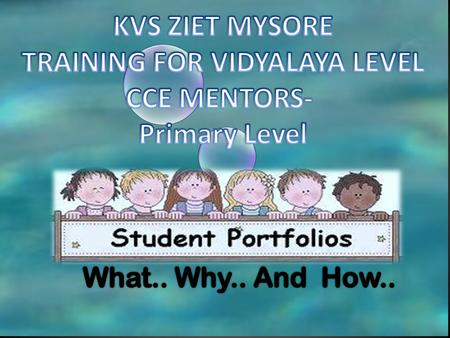 TRAINING FOR VIDYALAYA LEVEL