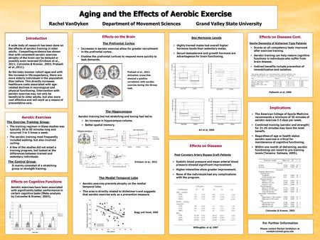 Aging and the Effects of <strong>Aerobic</strong> <strong>Exercise</strong> Rachel VanDykenDepartment of Movement Sciences Grand Valley State University <strong>Aerobic</strong> <strong>Exercises</strong> The existence.