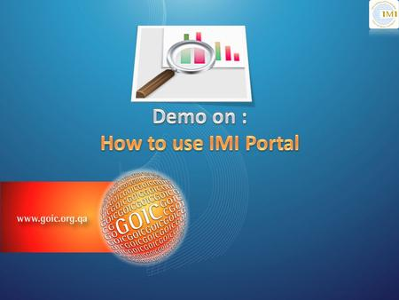 Subscribe on IMI Portal login by typing username/password.
