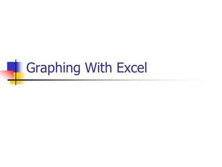Graphing With Excel.