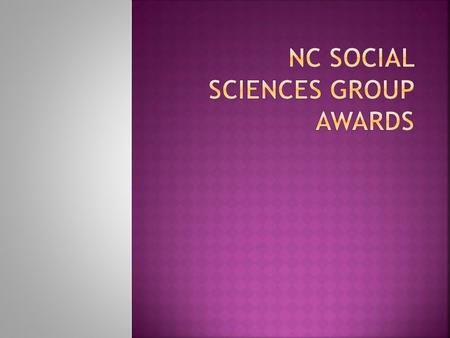 NC Social Sciences Level 5 – GF8C 45 NC Social Sciences Level 6 – GF8M 46.