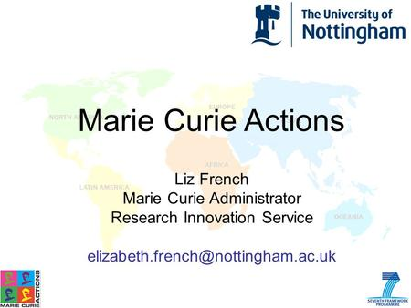 Marie Curie Actions Liz French Marie Curie Administrator Research Innovation Service