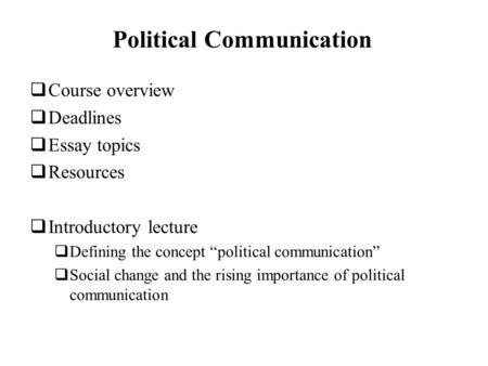 Essay for internet communication