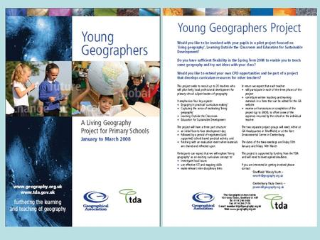 Living Geography Here at the GA we are increasingly using this term when we talk teaching geography in such a way that it comes `alive for pupils. We.