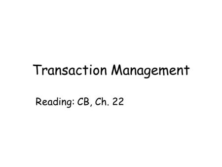 Transaction Management Reading: CB, Ch. 22. Dept of Computing Science, University of Aberdeen2 In this lecture you will learn the problems of concurrency.