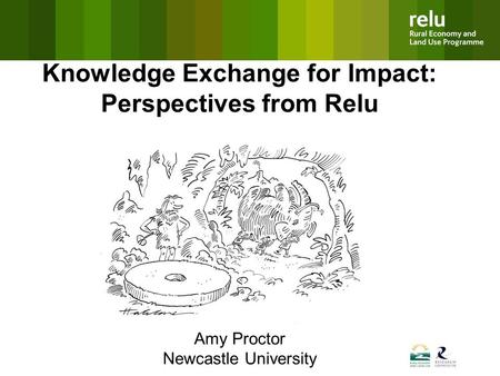 Knowledge Exchange for Impact: Perspectives from Relu Amy Proctor Newcastle University.