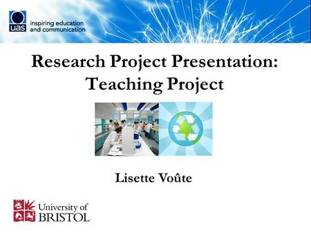 Research Project Presentation: Teaching Project Lisette Voûte.