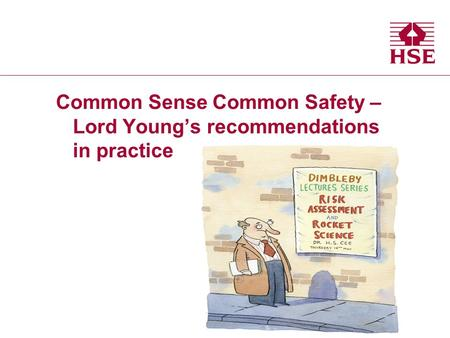 Common Sense Common Safety – Lord Youngs recommendations in practice.