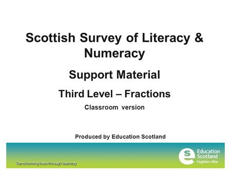 Scottish Survey of Literacy & Numeracy