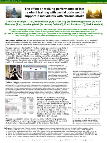 controlled incomplete body-weight assistance designed for treadmill training-a circumstance study