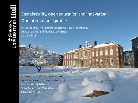 Sustainability, open education and innovation: