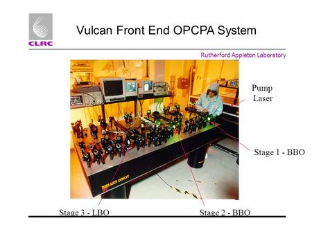 Vulcan Front End OPCPA System