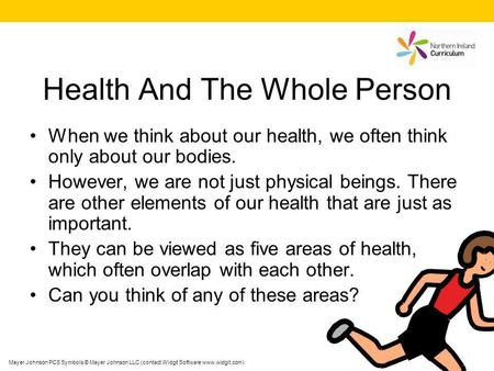 Health And The Whole Person When we think about our health, we often think only about our bodies. However, we are not just physical beings. There are other.