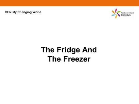 The Fridge And The Freezer SEN My Changing World.